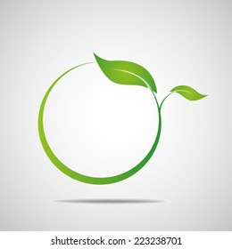 Ecology, organic with leafs