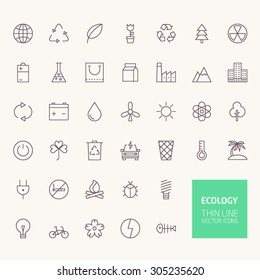 Ecology Outline Icons for web and mobile apps