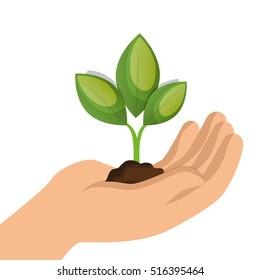 ecology plant symbol icon