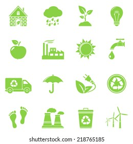 Ecology and recycle icons