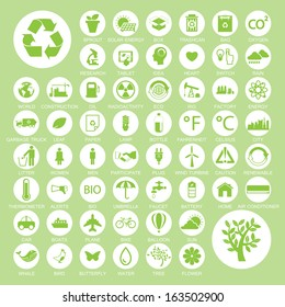 Ecology and recycle icons, vector eps10