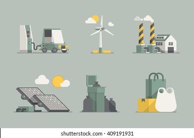 ecology vector elements