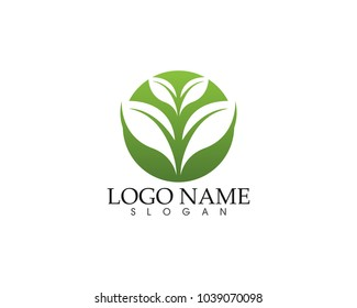 Ecology vector icon logo and symbols template