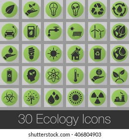 ecology vector icons set, modern solid symbol collection, pictogram pack
