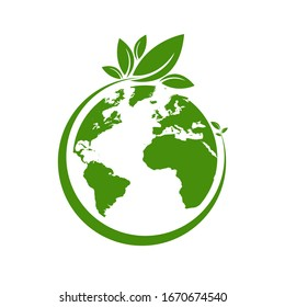 Ecology world symbol, icon. Eco friendly concept for company - Shutterstock ID 1670674540