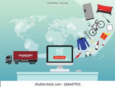 E-commerce background. Business concept.