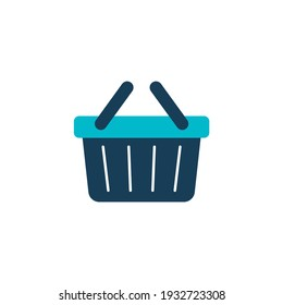 ecommerce Basket shopping icon in color icon, isolated on white background