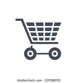 ecommerce business finance shop shopping icon vector illustration solid glyph cart silhouette