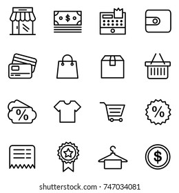 E-commerce business finance shop shopping icon