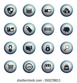 E-commerce chrome icons for web