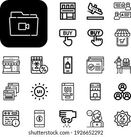 e-commerce Collection Vector Icons Set. e-commerce line icons also add, digital, online shopping, shop, customer service, buy, web page, discount, online banking, store