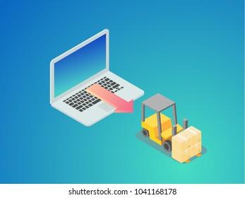 e-commerce concept isometric graphic