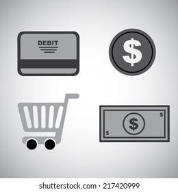 ecommerce design over  gray background, vector illustration