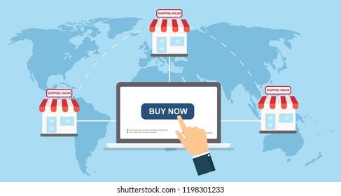 e-commerce flat icon vector illustration concept