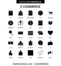 E-Commerce Glyph Vector Icon set