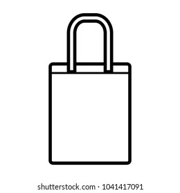 ecommerce goodie bag icon line art template