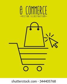 e-commerce icons design, vector illustration eps10 graphic
