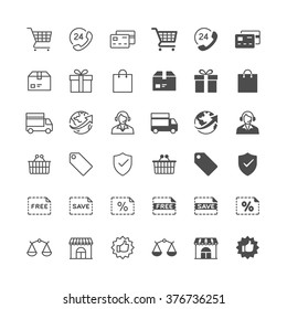 E-commerce icons, included normal and enable state.