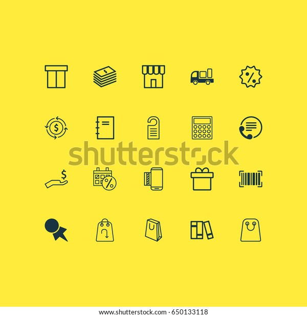 Ecommerce Icons Set Collection Black Friday Stock Vector Royalty Free 650133118