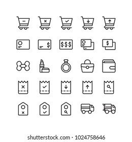 Ecommerce line icon set collection, suitable for your ecommerce content