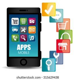 Ecommerce and mobile market applications design, vector illustration