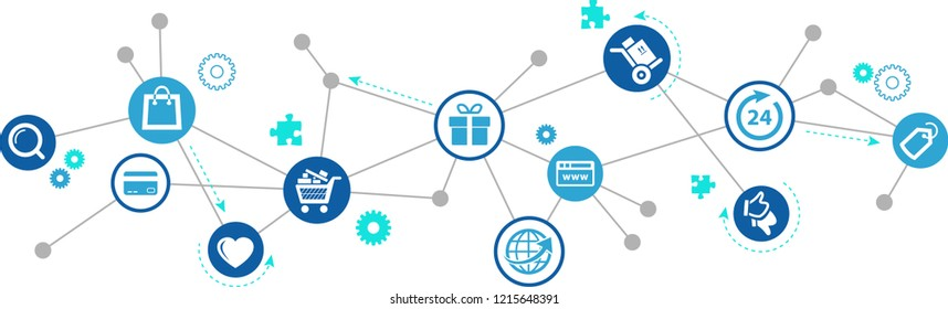 e-commerce, online shopping, internet purchases concept – vector illustration