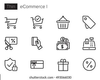 e-Commerce & Online Shopping I vector icon set