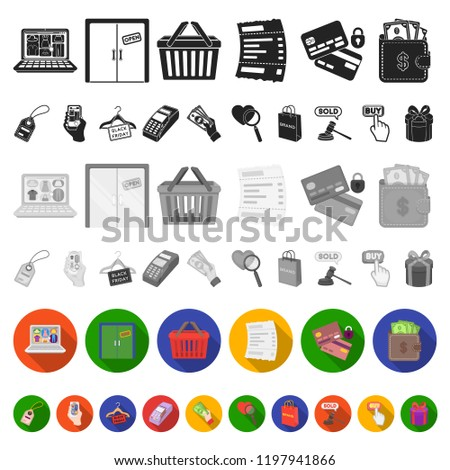 ecommerce purchase sale flat icons set stock vector royalty free