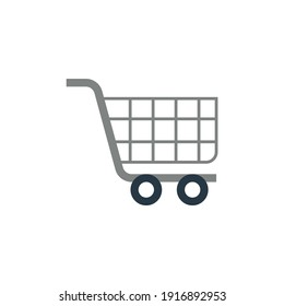 ecommerce shopping Cart icon in color icon, isolated on white background