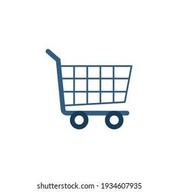 ecommerce shopping Cart icon in flat black line style, isolated on white background