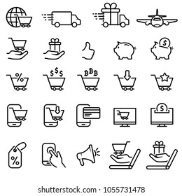 E-commerce and shopping icon set