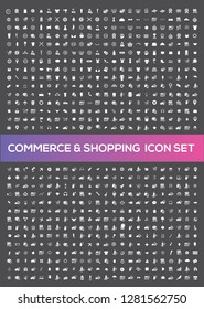 E-commerce and shopping vector icon set