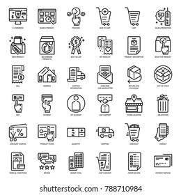 E-commerce website icon set