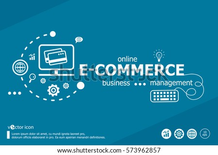 Ecommerce Word Cloud Marketing Concept Infographic Stock ...