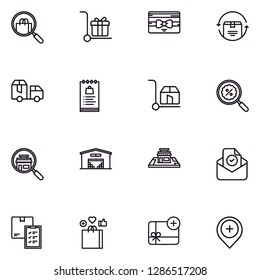 E-commerce,ecommerce shopping, marketing lineal icon set EPS 10 vector format. Transparent background.