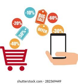 ecommerrce business design, vector illustration eps10 graphic