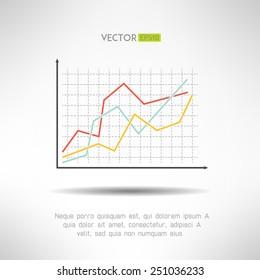 Economic finance graphics chart icon. Market sale diagram graph for presentation. Vector