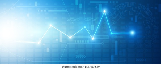 Economic graph with diagrams on the stock market. Abstract vector background for business and financial concepts and reports.