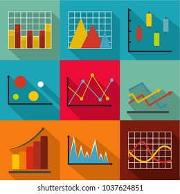 Economic growth icons set. flat set of 9 economic growth vector icons for web isolated on white background