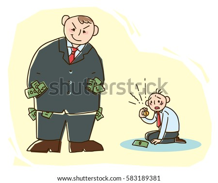 economic inequality concept illustration. vector EPS10