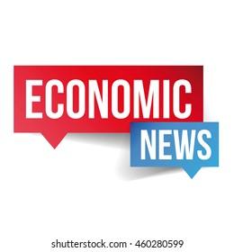 Economic News icon vector