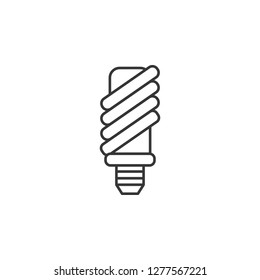 Economical light bulb icon. Simple outline vector of Sustainable Energy set icons for UI and UX, website or mobile application