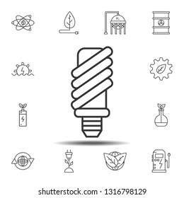 Economical light bulb icon. Simple thin line, outline vector element of Sustainable Energy icons set for UI and UX, website or mobile application