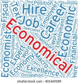 Economical ,Word cloud art  background