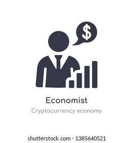 economist icon. isolated economist icon vector illustration from cryptocurrency economy collection. editable sing symbol can be use for web site and mobile app