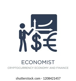 Economist icon. Trendy flat vector Economist icon on white background from Cryptocurrency economy and finance collection, vector illustration can be use for web and mobile, eps10