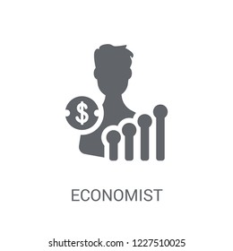 Economist icon. Trendy Economist logo concept on white background from Cryptocurrency economy and finance collection. Suitable for use on web apps, mobile apps and print media.