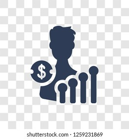 Economist icon. Trendy Economist logo concept on transparent background from Cryptocurrency economy and finance collection