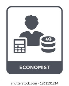 economist icon vector on white background, economist trendy filled icons from Cryptocurrency economy and finance collection, economist simple element illustration
