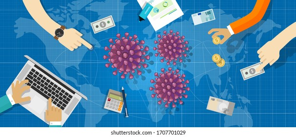 economy and foreign exchange trade worldwide transaction impacted by coronavirus covid-19